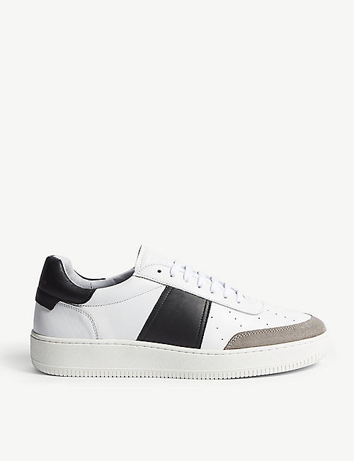 SANDRO: Magic leather and suede trainers