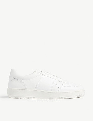 SANDRO Magic leather trainer