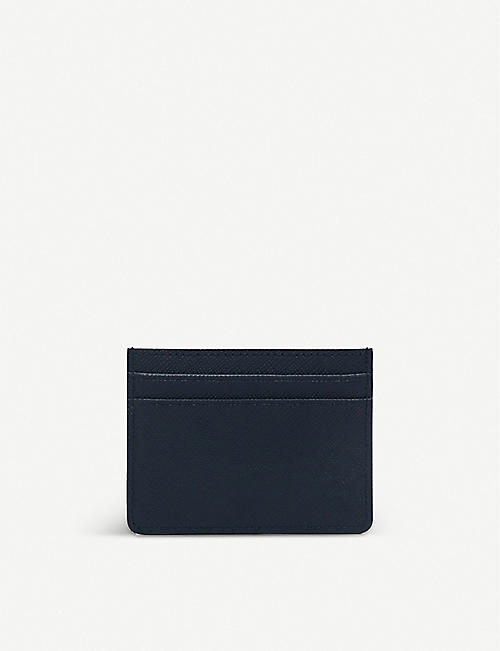 SANDRO: Textured leather card holder