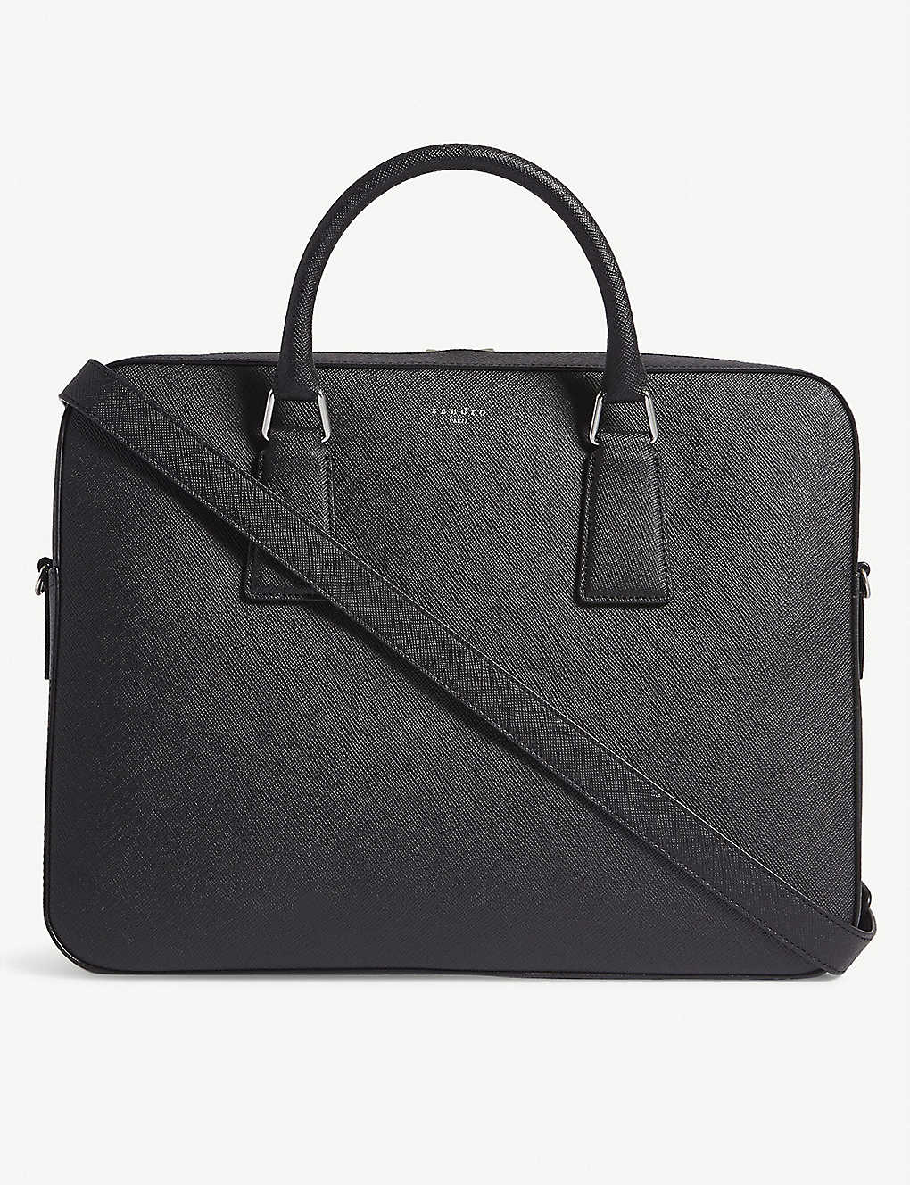 SANDRO: Saffiano leather briefcase