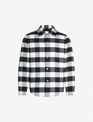SANDRO Plaid cotton overshirt