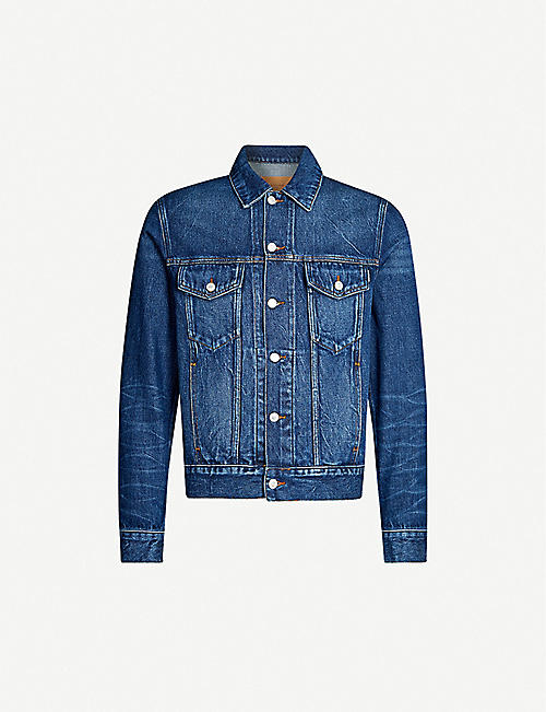 SANDRO Washed-denim jacket