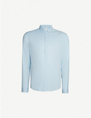 SANDRO: Regular-fit stretch-cotton shirt