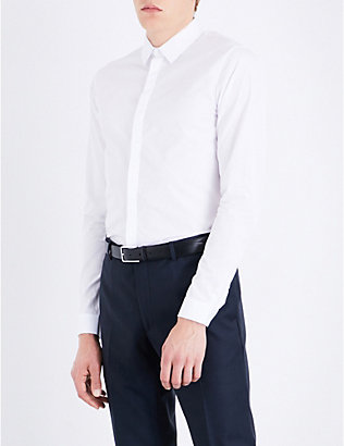 SANDRO: Slim-fit cotton shirt