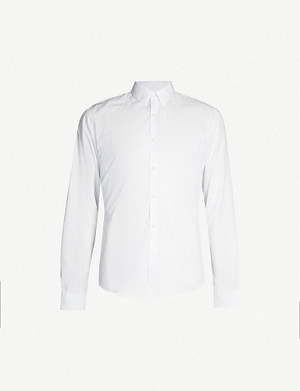 SANDRO Classic-fit cotton-poplin shirt