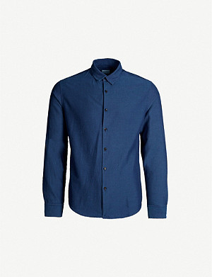 SANDRO Regular-fit cotton-twill shirt