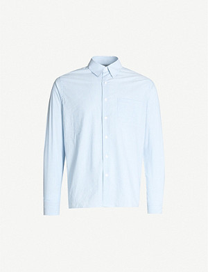 SANDRO Striped regular-fit cotton shirt