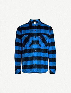 SANDRO Lumber checked relaxed-fit cotton shirt
