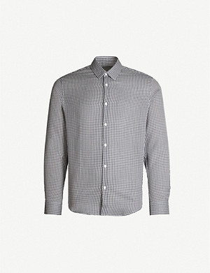 SANDRO Checked cotton shirt