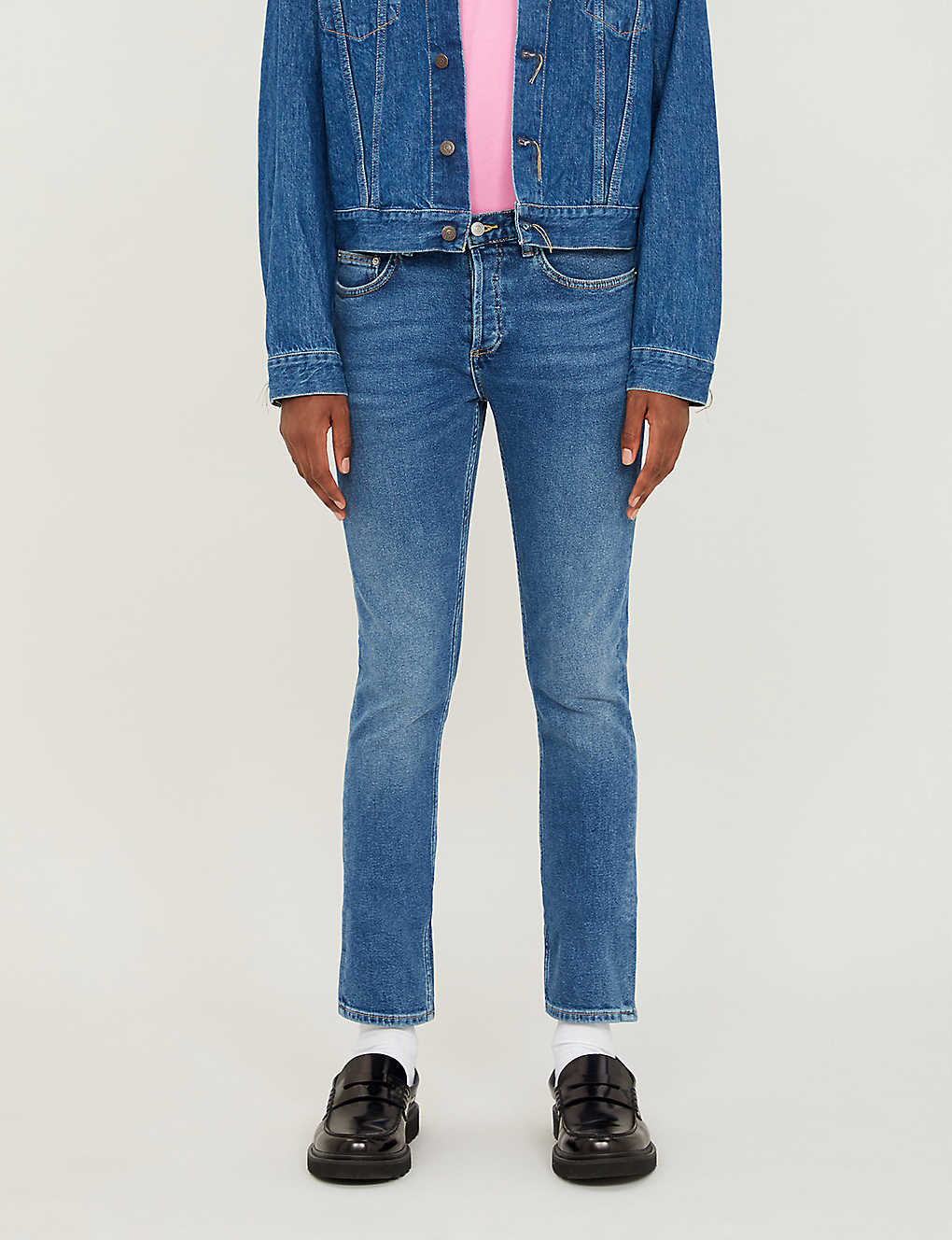 SANDRO: Slim-fit tapered stretch-denim jeans
