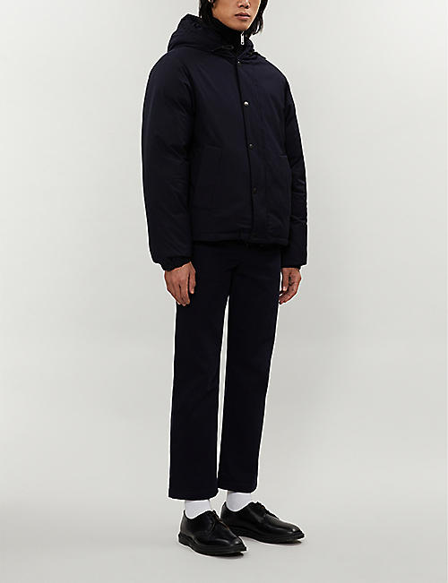 SANDRO Padded shell-down hooded jacket