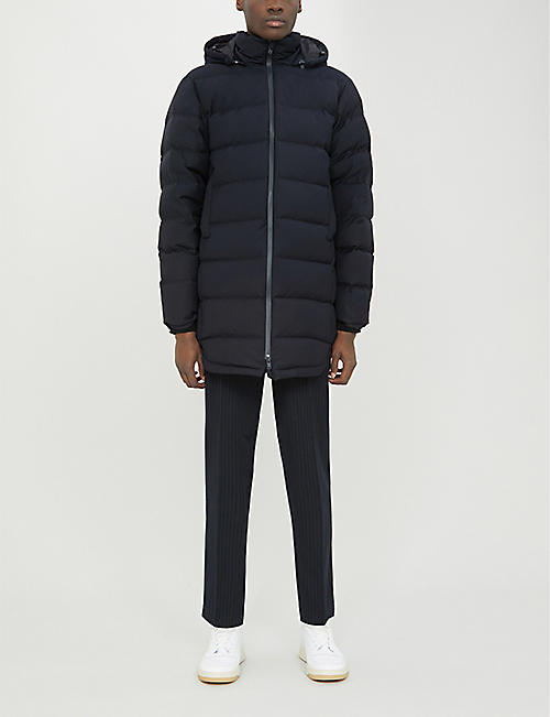 SANDRO Detachable hood padded woven jacket