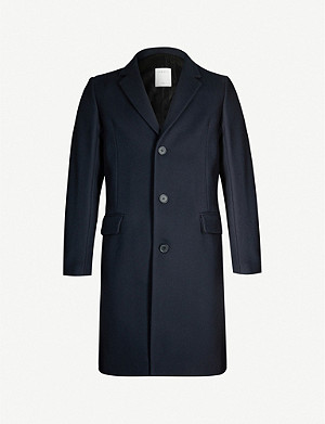 SANDRO Apollo single-breasted wool-blend coat