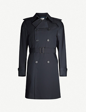 SANDRO Magnetic belted double-breasted cotton coat