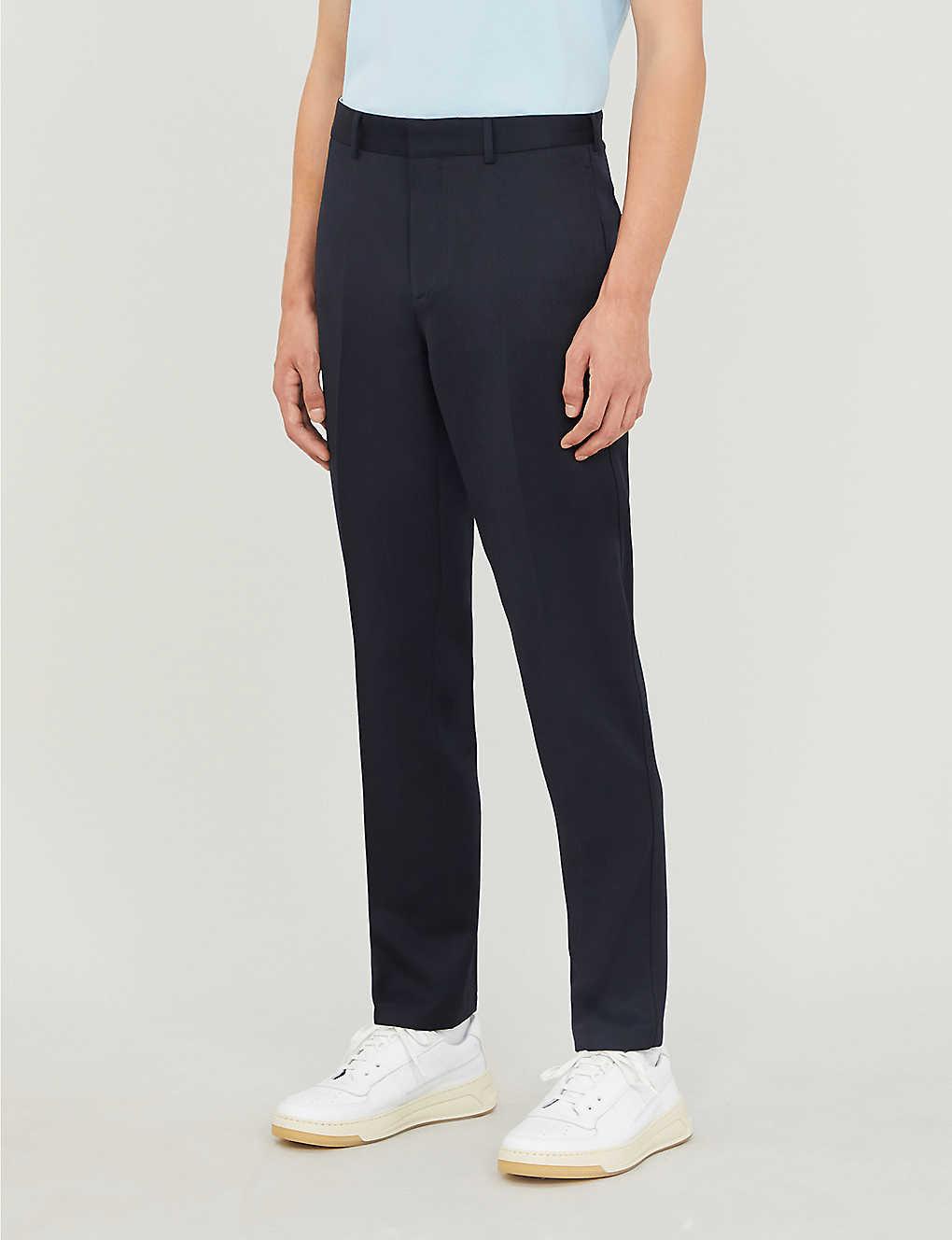 SANDRO: Tailored-fit gabardine trousers