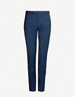 SANDRO Tailored-fit stretch-wool trousers