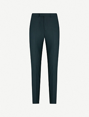 SANDRO Tapered mid-rise woven trousers