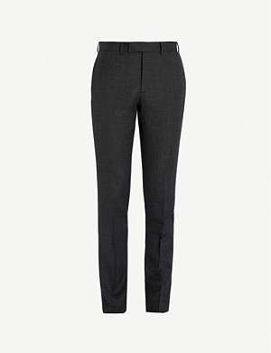 SANDRO Berkeley mid-rise slim-fit wool trousers