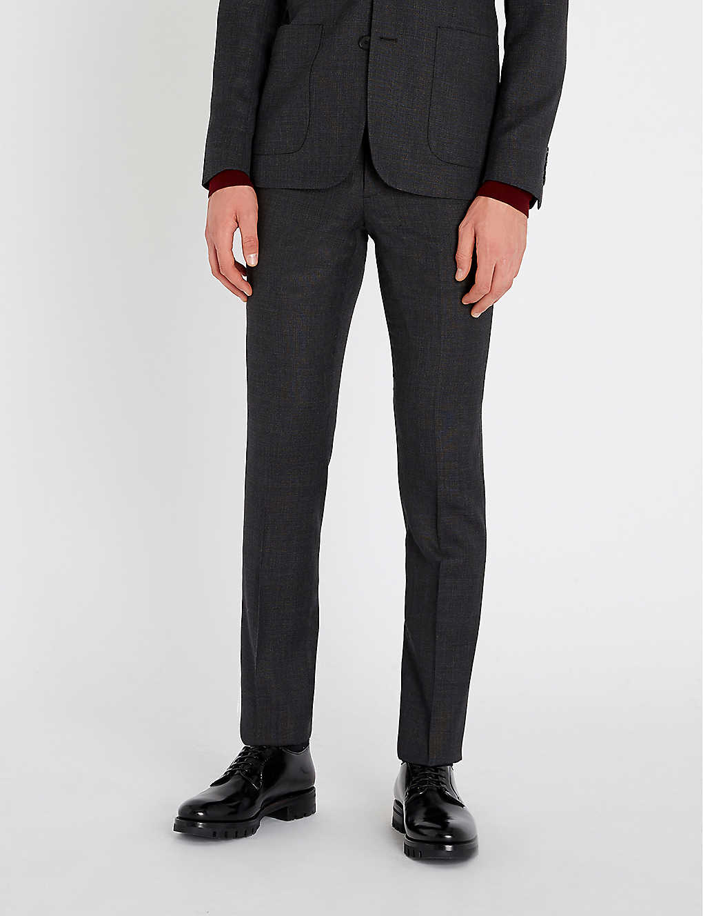 SANDRO: Berkeley mid-rise slim-fit wool trousers