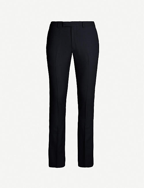 SANDRO: Slim-fit straight wool-blend trousers
