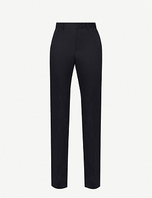 SANDRO Straight slim-fit stretch-cotton trousers