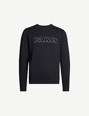 SANDRO 'Paris' embroidered cotton-jersey sweatshirt