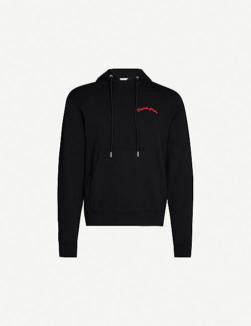 SANDRO Embellished cotton-jersey hoody