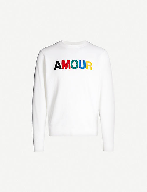 SANDRO Amour cotton-jersey sweatshirt