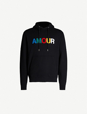 SANDRO Amour cotton-jersey hoody