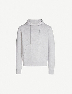 SANDRO Brand-embroidery cotton-jersey hoody