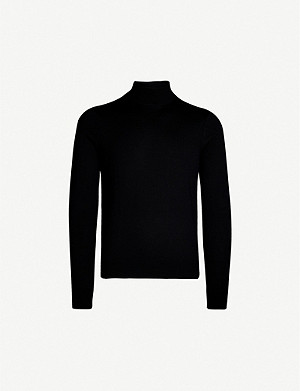 SANDRO Turtleneck wool jumper