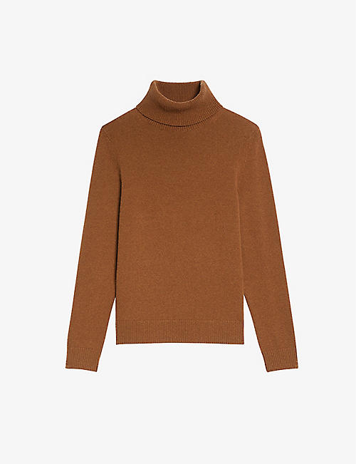SANDRO: Turtleneck wool-yak-cashmere blend jumper