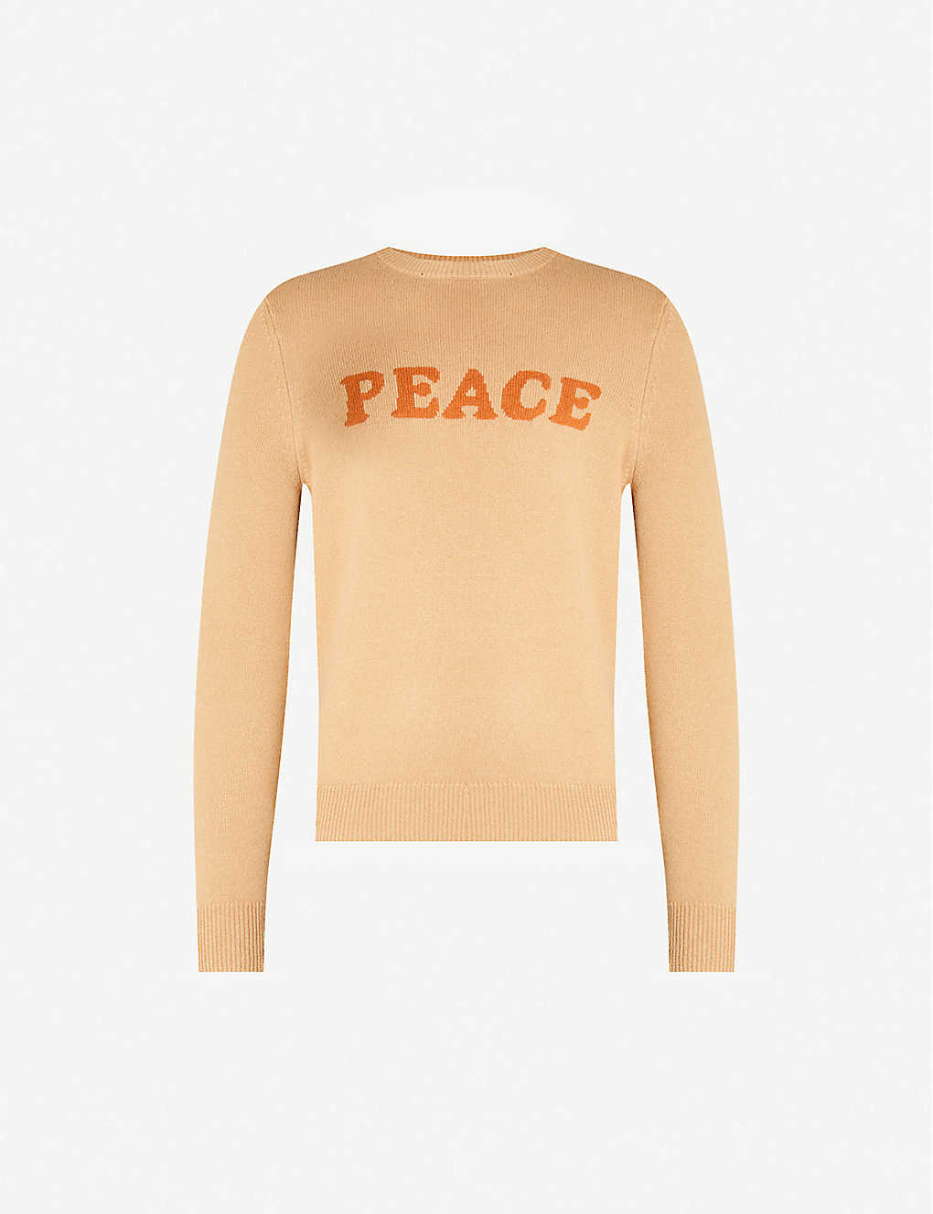 SANDRO: Peace-intarsia wool and cashmere-blend jumper