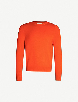 SANDRO Crewneck wool and cashmere-blend jumper