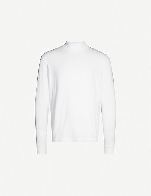 SANDRO Turtleneck cotton-jersey top