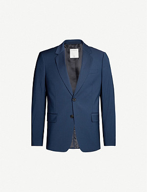 SANDRO Regular-fit stretch-wool blazer