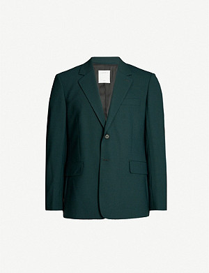 SANDRO Single-breasted woven jacket