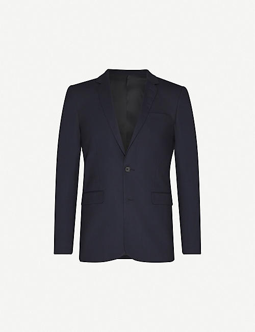SANDRO: Slim-fit wool-blend blazer