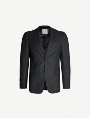SANDRO Single-breasted wool blazer