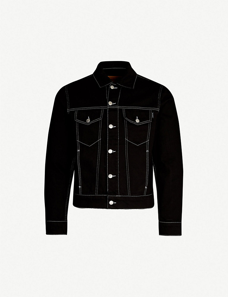 8a742e52b Contrast stitch regular-fit denim jacket