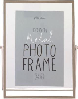 "PAPERCHASE Avellino silver photo frame 4"" x 6"""