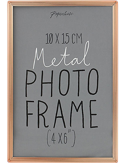 "PAPERCHASE Lucera copper photo frame 4"" x 6"""