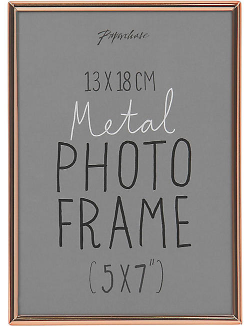 "PAPERCHASE Lucera copper photo frame 5"" x 7"""