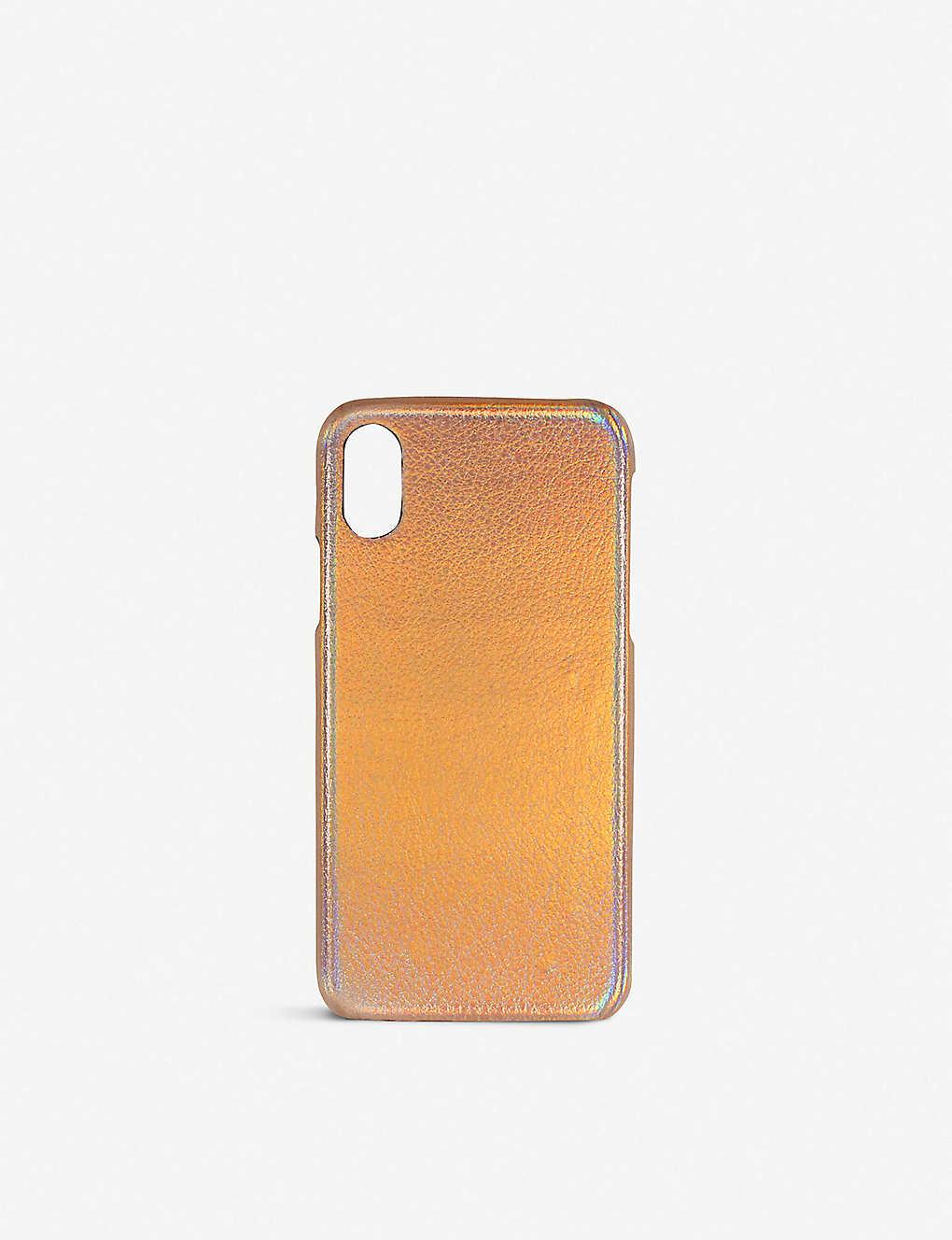 new product 3b03e a66c6 Iridescent metallic iPhone X case