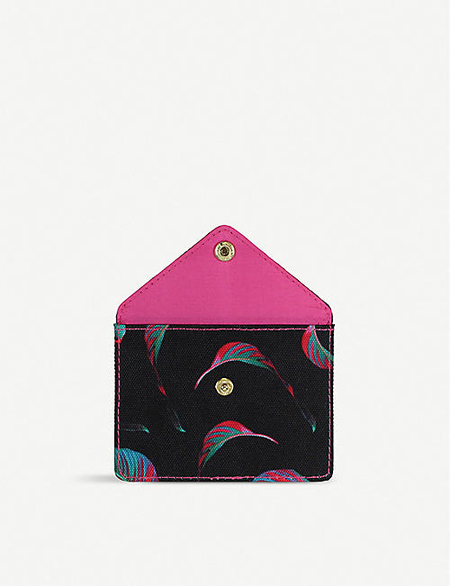 PAPERCHASE Tropical print card holder