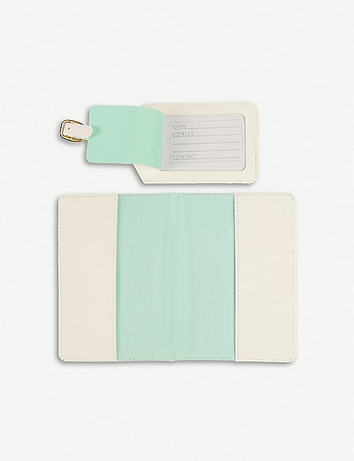 PAPERCHASE Mr passport luggage tag set