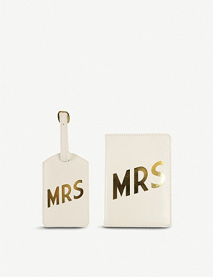 PAPERCHASE Mrs passport luggage tag set