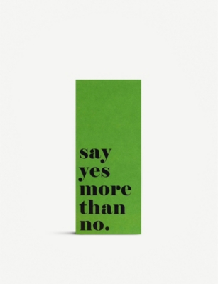 PAPERCHASE Conscious Living Say Yes recycled lined pad 23x10cm