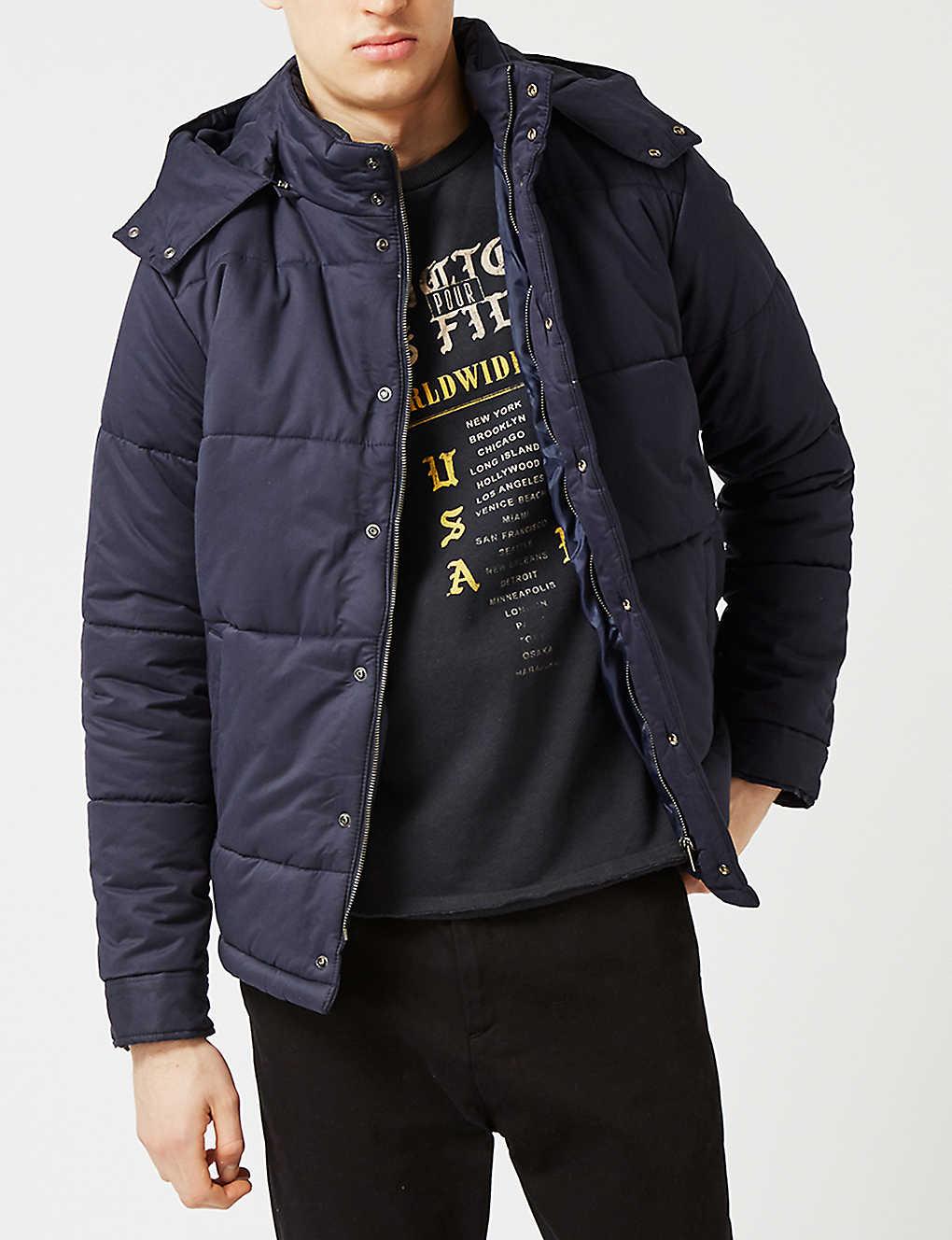 228f0ccdad TOPMAN - Quilted cotton-blend puffer jacket | Selfridges.com