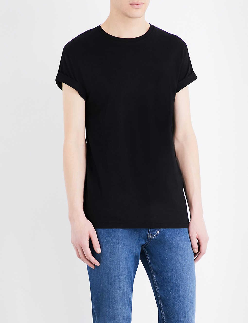 cea15708 TOPMAN - Muscle-fit cotton-jersey T-shirt | Selfridges.com